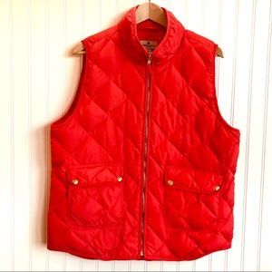 Woolrich Puffer Quilted Red Zip Front EUC XL